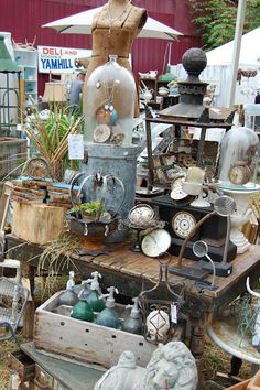 French flea market display