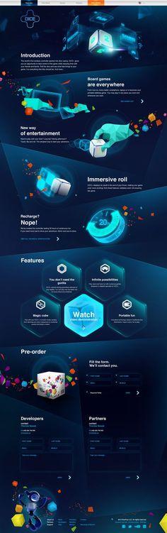 DICE+ Website Design