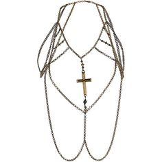 Beaded Cross Body Chain ($40) ❤ liked on Polyvore