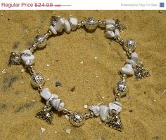 SALE Egyptian Charm Bracelet in white by EgyptianInspirations, $22.49