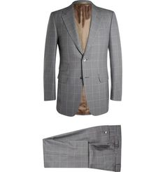 DUNHILL GREY BELGRAVIA SLIM-FIT WOOL SUIT. #dunhill #cloth #