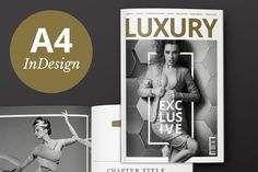 Check out Luxury Magazine InDesign Template by Mate Toth on Creative Market