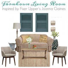 Farmhouse Living Room - Fixer Upper HGTV Living Room