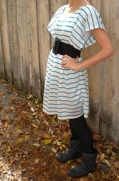 DIY Dress - Chevron & Lace: Hello J-Lo!