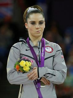 The U.S.' McKayla Maroney's face shows her displeasure at her silver medal performance in the women's vault on August 5, 2012. (Reuters/Brian Snyder)
