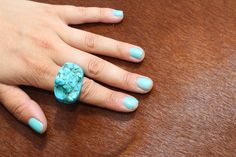 Slightly chipped from a day of riding but turquoise looks so amazing on bay horses