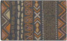 NOD-101, #surya. nomad. 100% wool. handwoven. flat pile. distressed. india.