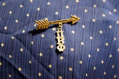 Combining a vintage arrow pin with a Pi Beta Phi lavaliere!