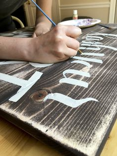Hand painted letters / Hand painted wood sign / Rebekah Disch Design