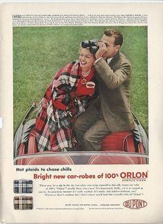 1956 BEER BELONGS Vintage AD Couple In Flower Garden Gardening