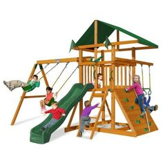Gorilla Playsets Outing III Play Set looks like a good choice for my little climber!