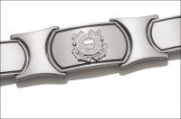 Men's Coast Guard Bracelet - Silver Emblem