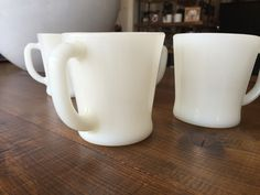 Fire King Milk Glass Coffee Mugs. Every adult in my family drank coffee from these mugs!