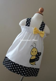 Super Cute Bumble Bee Halter Style dress