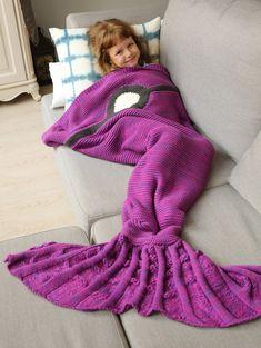 Knitted Sleeping Bag Mermaid Blanket PURPLE: Home | ZAFUL