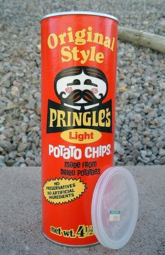 #Vintage Pringles #Packaging ~ My younger (now late) brother was named Pringle, after my maternal grandfather.  No one had ever heard the name before. When these came on the market, everybody at school thought his name was SO COOL!  ;)