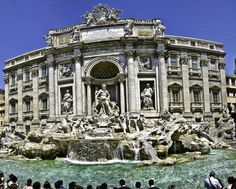 {Rome, Italy} Throw a Coin and Make a Wish in the Trevi Fountain in Italy Oh The Places You'll Go, Places To Travel, Places To Visit, Travel Destinations, Travel Tips, Skydiving In Dubai, Voyage Rome, New Zealand Image, Vatican