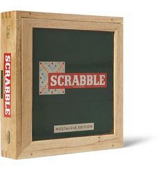 Indulge your inner wordsmith with the classic board game Scrabble. This special Esdevium Games set is part of the brand's 'Nostalgia Edition' series; it comes in a handsome wooden box and has retro-style tiles. Keep it to hand at home for weekend tournaments, or gift it to a verbose friend.