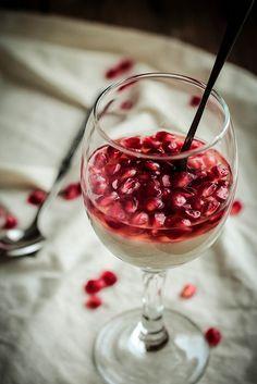 Pomegranate White Wine Panna Cotta by pastryaffair, via Flickr
