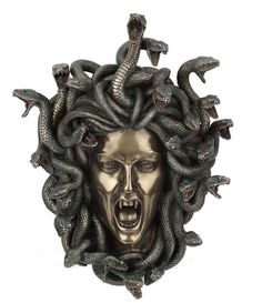 """14.5"""" Head of Medusa Wall Plaque Statue Collectible Gothic Myth Legend Snakes #Statues"""