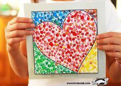 Trendy Pointillism Art Projects For Kids Valentines Day Ideas Kinder Valentines, Valentines Day Activities, Valentines For Kids, Valentine Day Crafts, Valentine Ideas, Kid Activities, School Art Projects, Projects For Kids, Crafts For Kids