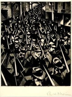 British painter and printmaker C R W Nevinson was born onthisday in He's best known for the harrowing works he made as an official war artist during the First World War World War One, First World, Ww1 Art, Prisoners Of War, Art Uk, Military Art, British Museum, Art And Architecture, Printmaking