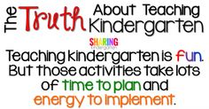 Teaching kindergarten is fun. But those activities take lots of time to plan and energy to implement.