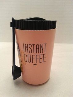 Vintage Serv-Rite Pink Instant Coffee Keeper Container