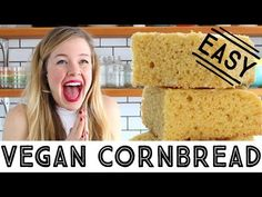 Vegan Cornbread. Sweet, tender, moist, full of corn flavour, and you can optionally add in corn kernels. Perfect paired with chili.