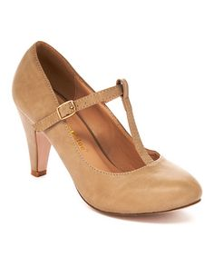 Another great find on #zulily! Nude Kimmy T-Strap Pump #zulilyfinds