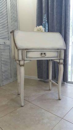 SOLD Shabby Chic Secretary Desk Vintage Drop by DStressedToImpress