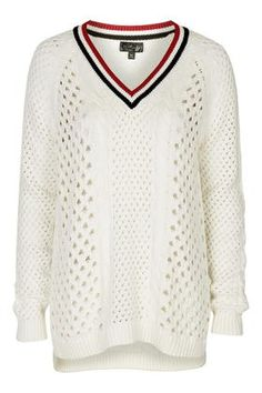 Open Stitch Cricket Jumper - Sweaters & Knits - Clothing