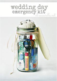idea, emerg kit, weddings, the bride, bridal shower gifts, mason jars, emergency kits, diy wedding, bridal showers