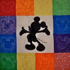 Mickey Mouse Applique Quilt - QUILTING