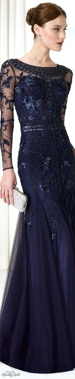 Navy blue evening gown.........