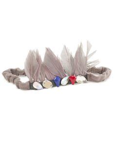 feather headband...