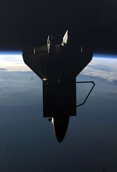 The view of Space Shuttle Atlantis on STS-135 fly around of the International Space Station.