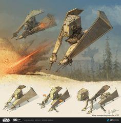 ArtStation - AT-ST drone, Star Wars , Grzegorz Korniluk: