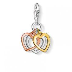 CHARM PENDANT 'THREE HEARTS' - Charm Club - Thomas Sabo - Jewellery  | Coe & Co