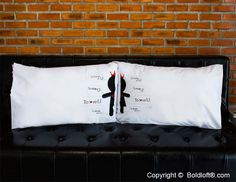 """Like two pieces of a puzzle, these his and hers couple pillowcases fit perfectly together. Just like you and your loved one, when these pillowcases are together, the set is complete! Perfect Christmas gifts for girlfriend or wife. BoldLoft """"You Complete Me"""" His and Hers Couple Pillowcases. #hisandhers #christmasgiftsforgirlfriend"""