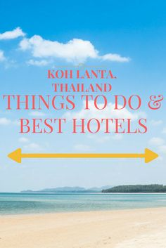A list of things to do in Koh Lanta, Thailand. We'll tell you how much you can spend and you'll find some useful suggestions on the best beaches, resorts and hotels. Basically all you need to know where to stay in Koh Lanta and how to spend an amazing holiday here.
