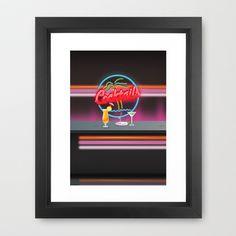 Cocktails nightclub Bar Framed Art Print