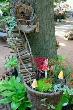 Fairy Garden. Need this for my granddaughters!