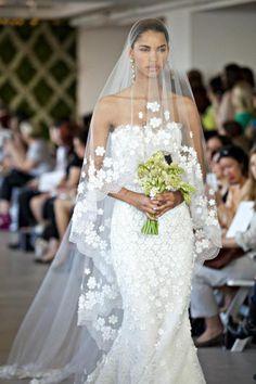 Image result for oscar de la renta flower dress