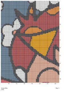 Artesanatos by Zenia: Reproduzindo obra de Romero Brito - O Abraço - atendendo ao pedido da M. Rosa