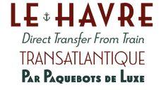Le Havre font sample - blood and cobalt
