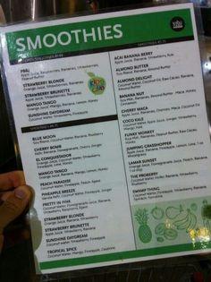 Juice ideas symmetry juice and smoothie bar juicey for Whole food juice bar menu