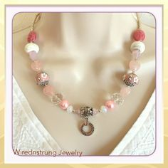 Rose Quartz Necklace and Earring set Inspirational Gift set