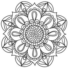 The three important healing symbols that have evolved from Reiki are thought to be the doorways of the mind and are used extensively by Reiki Masters. Mandala Art, Mandala Floral, Mandalas Painting, Mandalas Drawing, Mandala Pattern, Zentangle Patterns, Mandala Tattoo, Zentangles, Adult Coloring Pages
