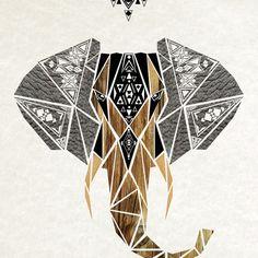 elephant Art Print by Manoou | Society6